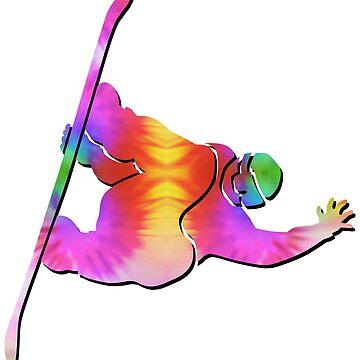 Tie-Dye Snowboarder by feralbeagle