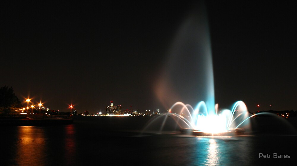 Colored water works and Detroit by Petr Bares