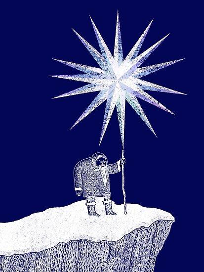 Old Man Winter Hermit and North Star by SusanSanford