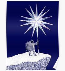 Old Man Winter Hermit and North Star Poster