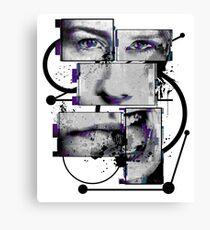 Split Mind (abstract art) Canvas Print
