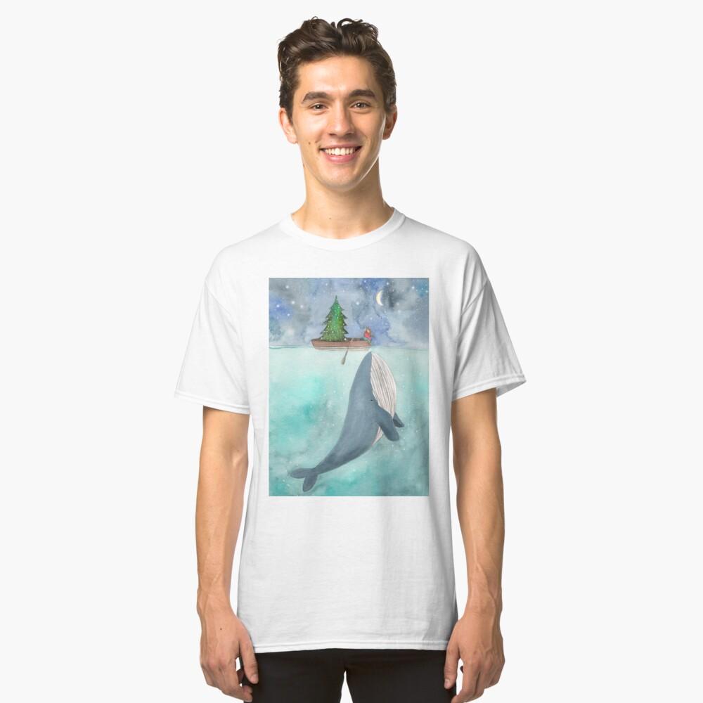 Christmas whale Classic T-Shirt