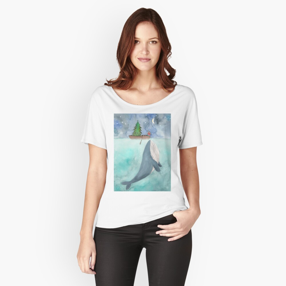 Christmas whale Relaxed Fit T-Shirt