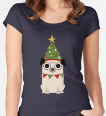 It's Christmas for Pug's sake Women's Fitted Scoop T-Shirt