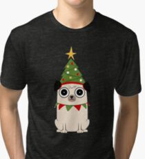 It's Christmas for Pug's sake Tri-blend T-Shirt
