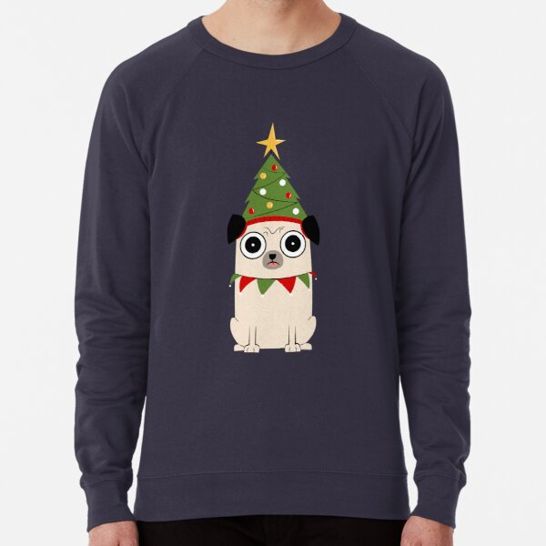 It's Christmas for Pug's sake Lightweight Sweatshirt