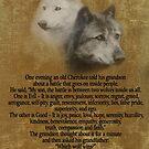 Die zwei Wölfe, Cherokee Sprichwort von Irisangel