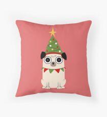 It's Christmas for Pug's sake Throw Pillow