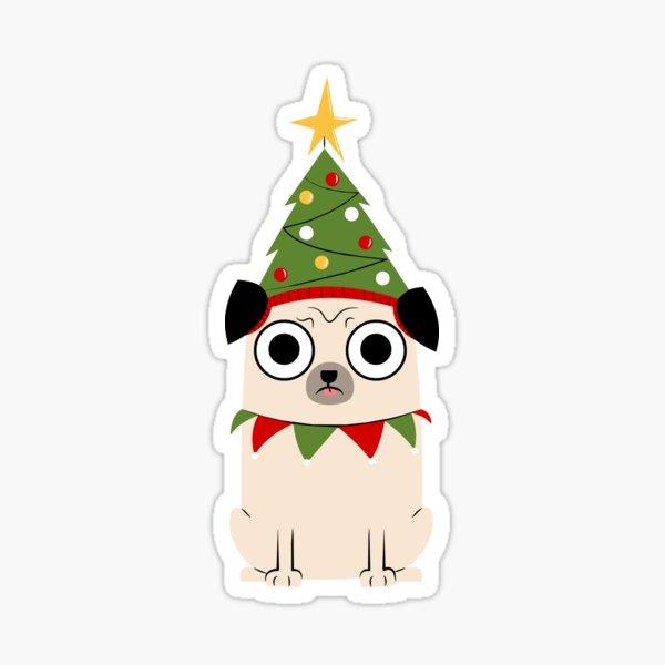 It's Christmas for Pug's sake Sticker