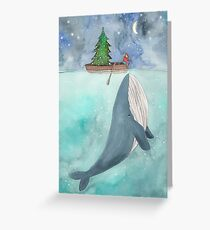 Weihnachtswal Grußkarte