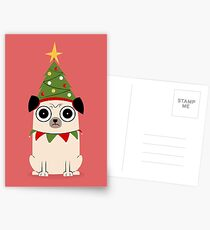 It's Christmas for Pug's sake Postcards