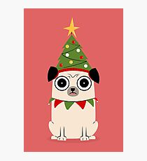 It's Christmas for Pug's sake Photographic Print