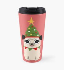 It's Christmas for Pug's sake Travel Mug