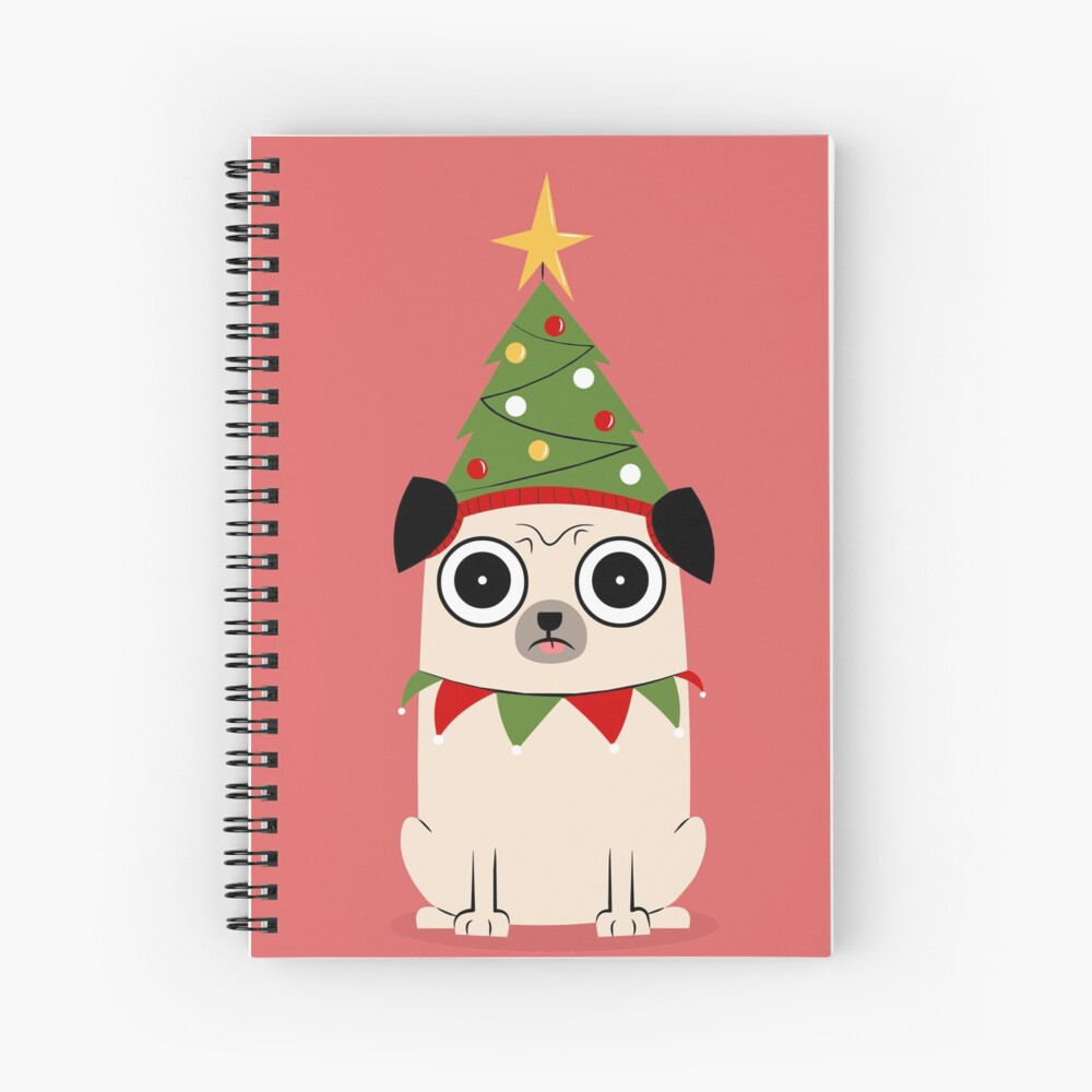 It's Christmas for Pug's sake Spiral Notebook