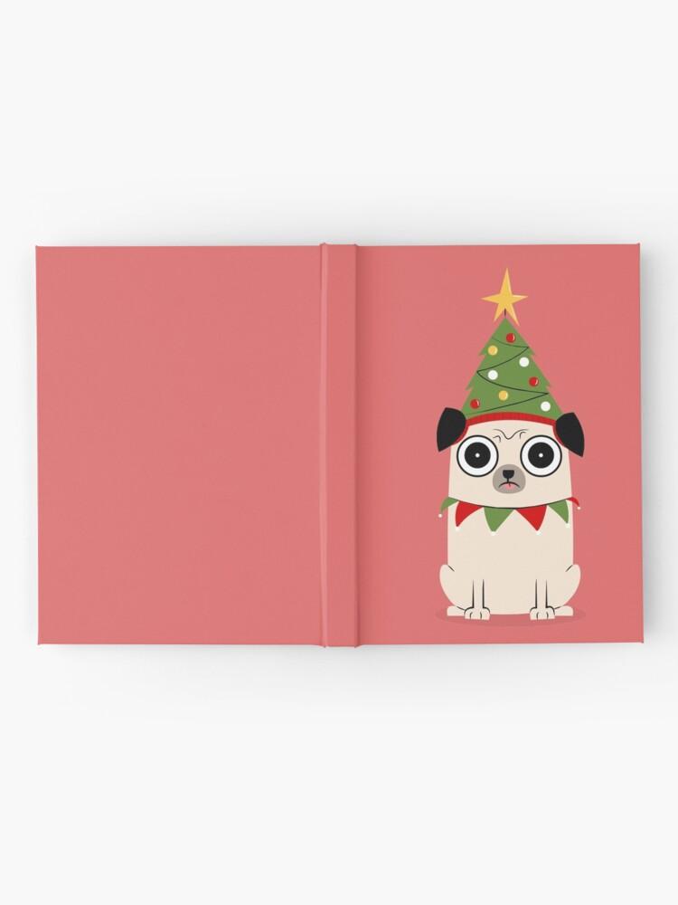 Alternative Ansicht von Es ist Weihnachten um Pug willen Notizbuch