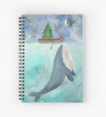 Christmas whale Spiral Notebook