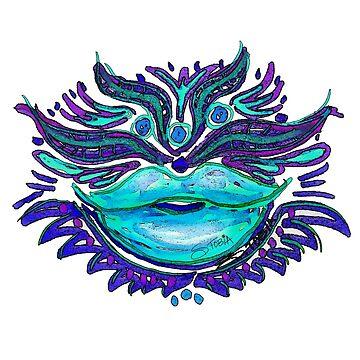 Lippenpflege - Blauer Kuss von Susantobiaart