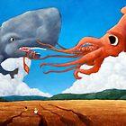 Squid & Whale by DiegoByrnesArt