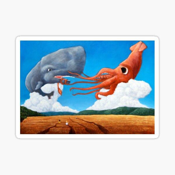 Squid & Whale Sticker