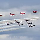 The Red Arrows and USAF Thunderbirds At RIAT 2017 by Colin  Williams Photography