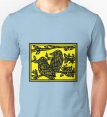 Ailurophile Bird Yellow Black Unisex T-Shirt