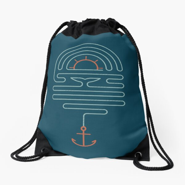The Tale of the Whale Drawstring Bag