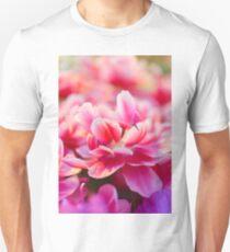 Fresh pink white red tulips T-Shirt
