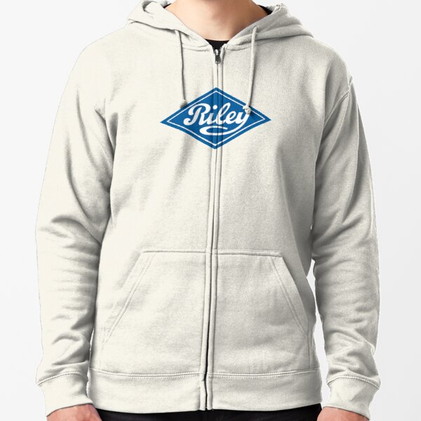 Riley - the Classic British Car Zipped Hoodie