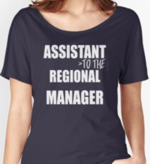 Assistant To The Regional Manager - Funny Text Typography Women's Relaxed Fit T-Shirt