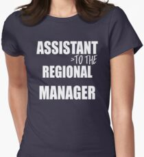 Assistant To The Regional Manager - Funny Text Typography Women's Fitted T-Shirt