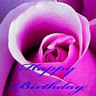 Card, Red Rose Birthday by BobJohnson