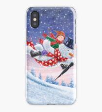 FLYING SNOWMAN iPhone Case/Skin
