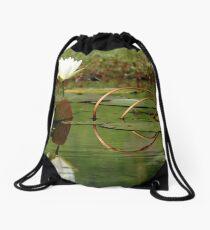 White Water Lily Drawstring Bag