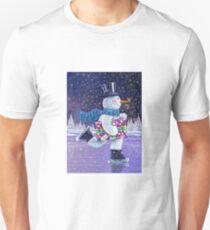 SKATING SNOWMAN T-Shirt