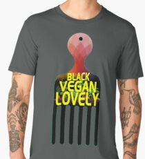 Black Vegan and Lovely Men's Premium T-Shirt