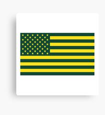 University of Oregon United States Flag Canvas Print