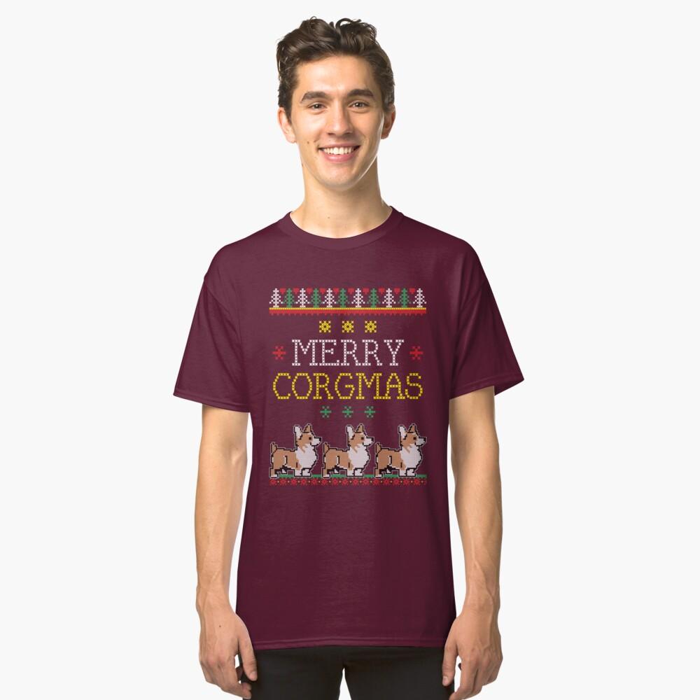 Merry Corgmas Tshirt Corgi Pet Dog Ugly Christmas Sweater Classic T-Shirt Front
