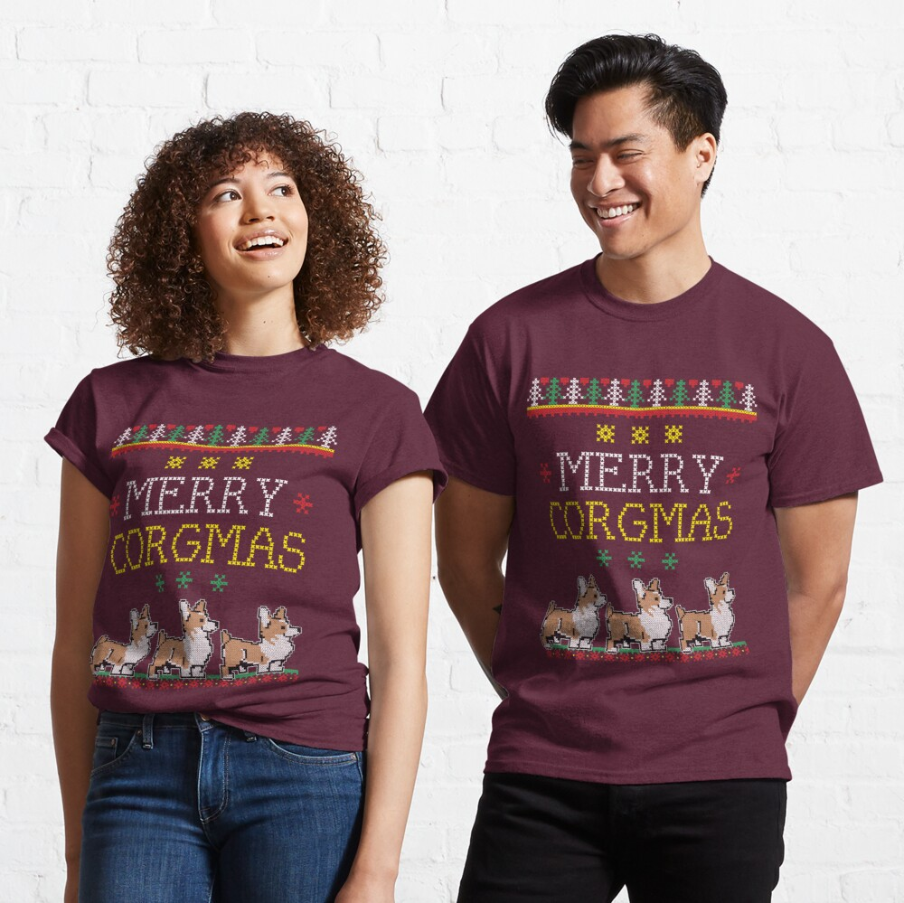 Merry Corgmas Tshirt Corgi Pet Dog Ugly Christmas Sweater Classic T-Shirt