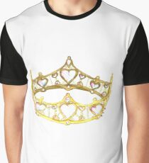 Queen of Hearts gold crown tiara by Kristie Hubler Graphic T-Shirt