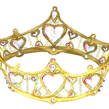 Queen of Hearts gold crown tiara by Kristie Hubler by kristiehubler