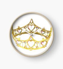 Queen of Hearts gold crown tiara by Kristie Hubler Clock