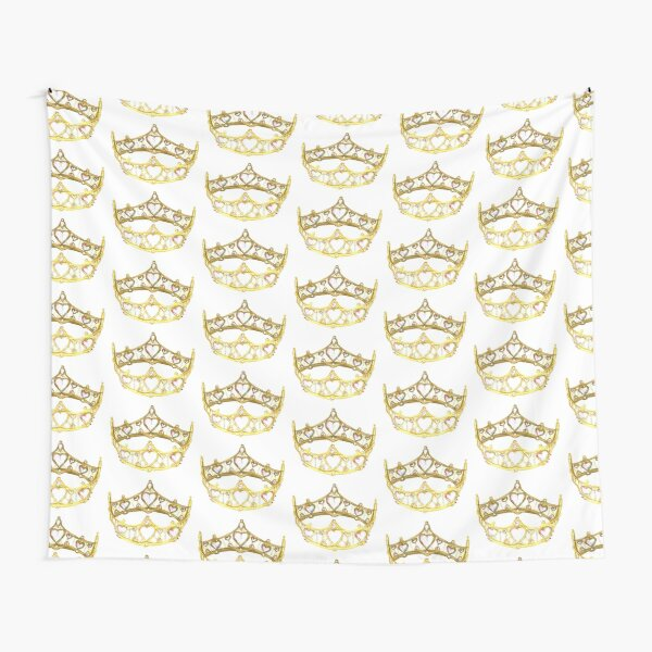 Queen of Hearts gold crown tiara by Kristie Hubler Tapestry
