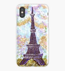 Eiffel Tower Pointillism by Kristie Hubler iPhone Case
