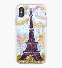 Eiffel Tower Pointillism by Kristie Hubler iPhone Case