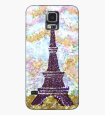 Eiffel Tower Pointillism by Kristie Hubler Case/Skin for Samsung Galaxy