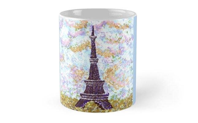 Eiffel Tower Pointillism by Kristie Hubler by kristiehubler