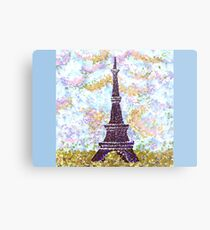 Eiffel Tower Pointillism by Kristie Hubler Metal Print