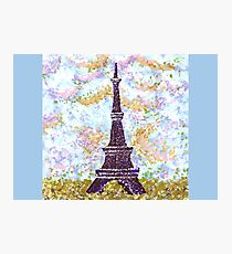 Eiffel Tower Pointillism by Kristie Hubler Photographic Print