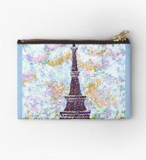 Eiffel Tower Pointillism by Kristie Hubler Studio Pouch