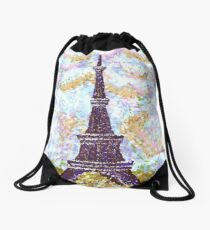 Eiffel Tower Pointillism by Kristie Hubler Drawstring Bag